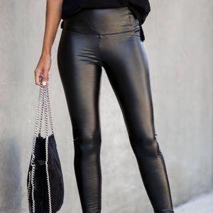 LAST ONE Vici Vegan Faux Leather Leggings